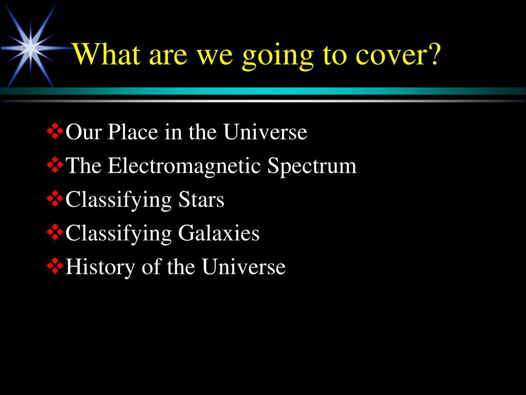 What are we going to cover?