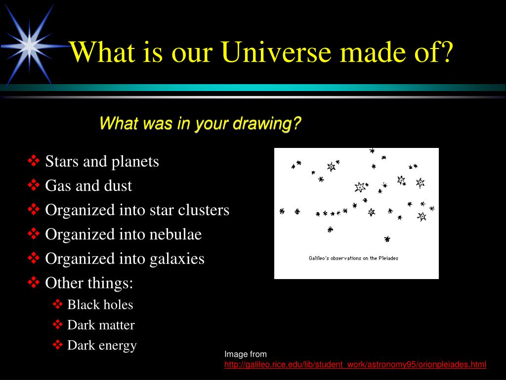 What is our Universe made of?