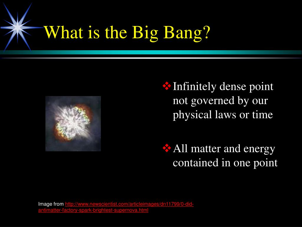 Infinitely dense point not governed by our physical laws or time