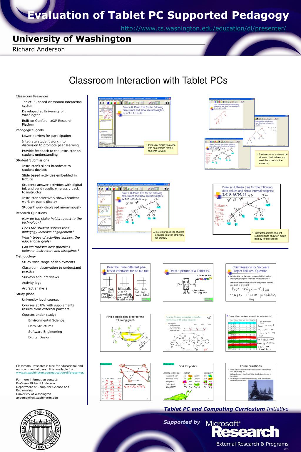 Evaluation of Tablet PC Supported Pedagogy