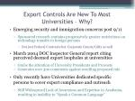 export controls are new to most universities why