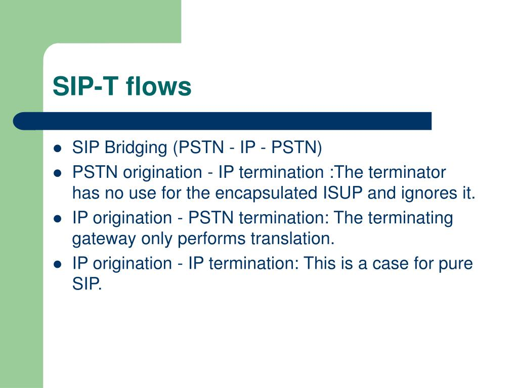 PPT - RFC3372 Session Initiation Protocol for Telephones (SIP-T