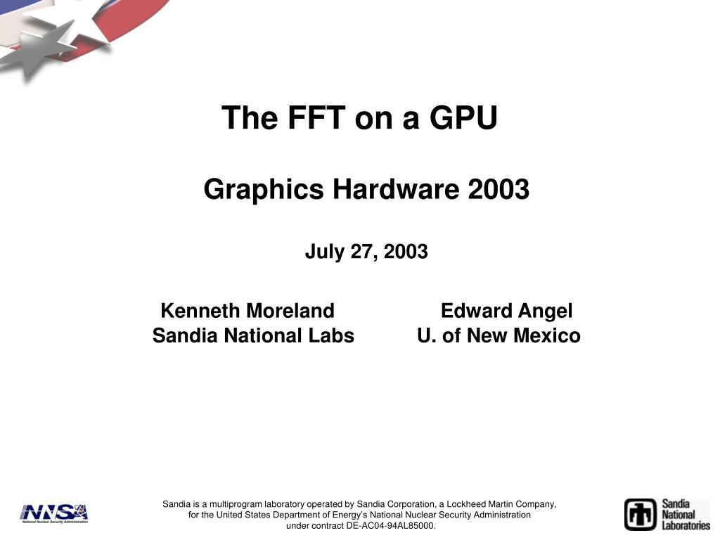 the fft on a gpu l.