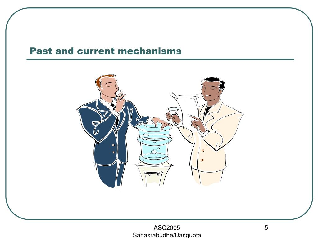 Past and current mechanisms