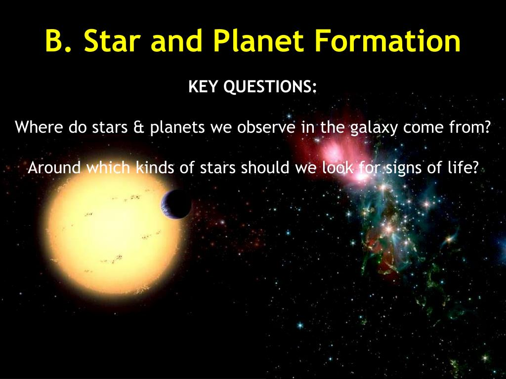 B. Star and Planet Formation