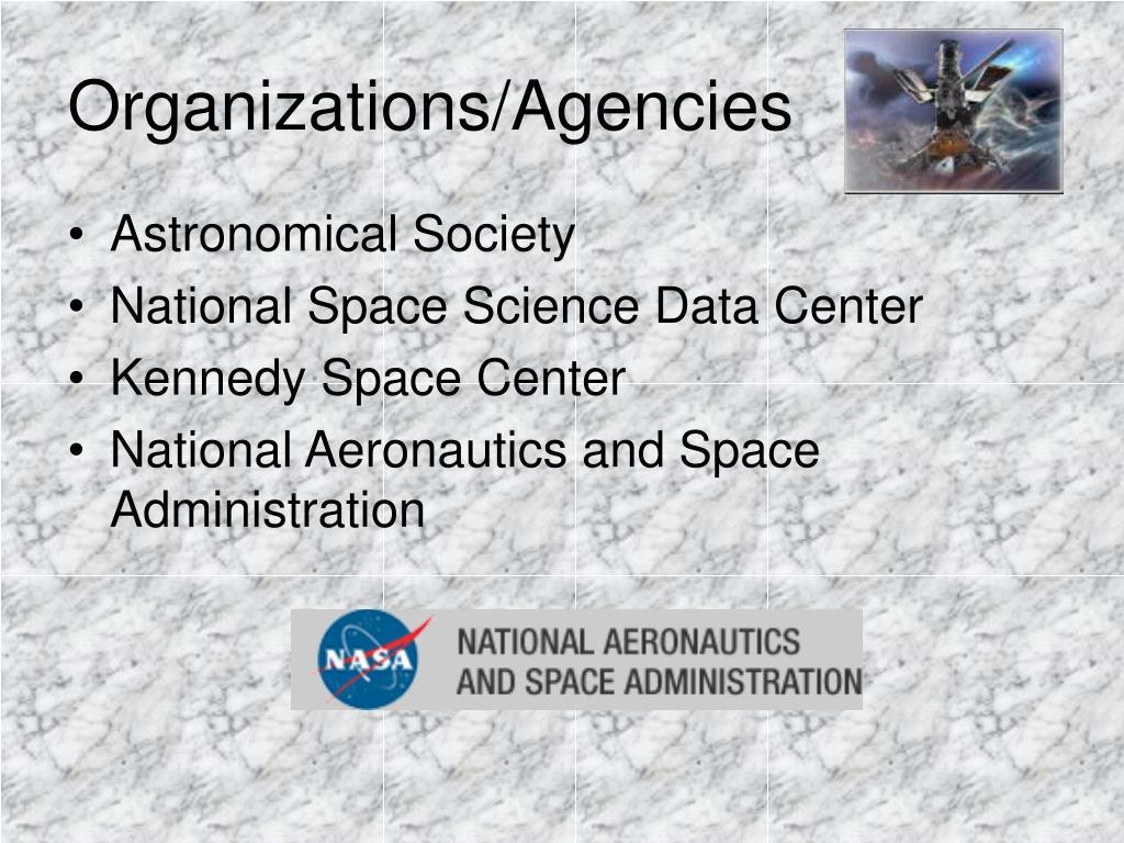 Organizations/Agencies