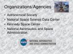 organizations agencies
