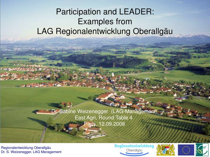 Participation and leader examples from lag regionalentwicklung oberallg u