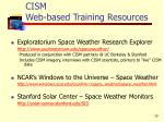 cism web based training resources