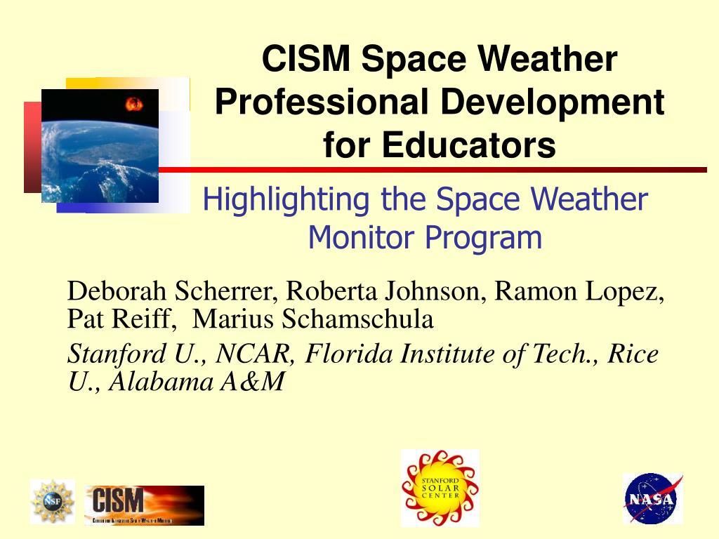 highlighting the space weather monitor program l.