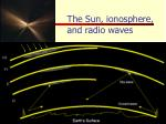 the sun ionosphere and radio waves