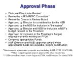 approval phase