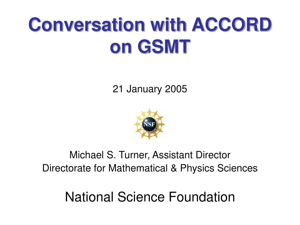 conversation with accord on gsmt l.