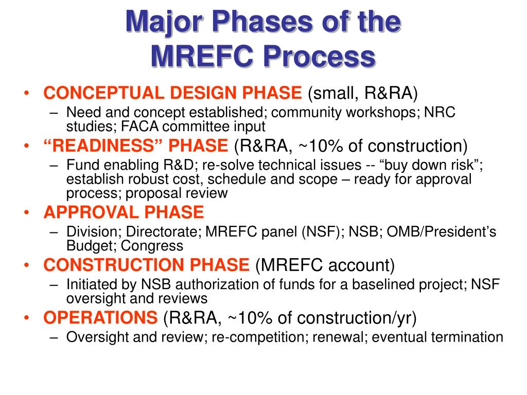 Major Phases of the