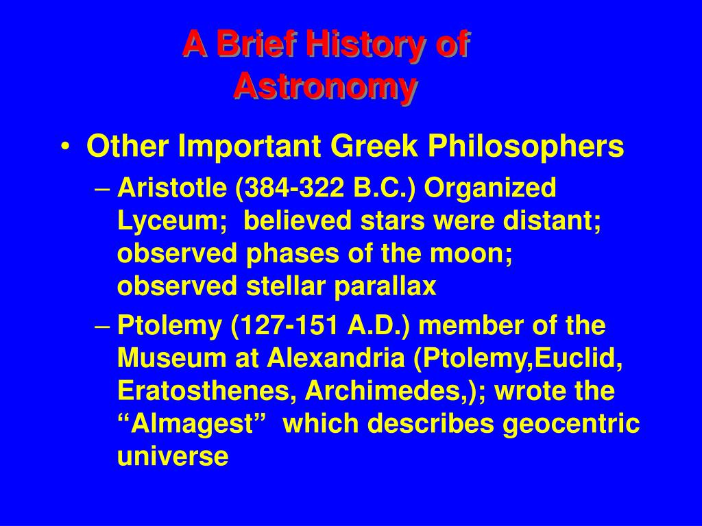 Other Important Greek Philosophers