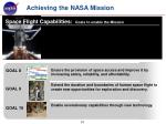 achieving the nasa mission10
