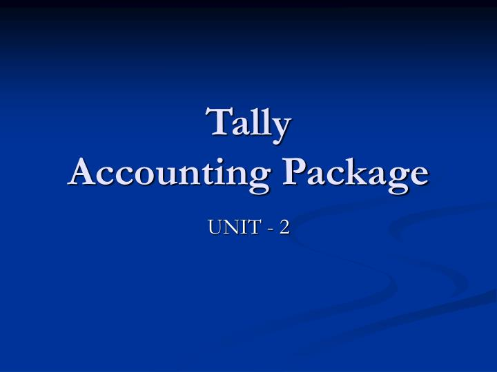 tally accounting package n.