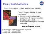 inquiry based activities