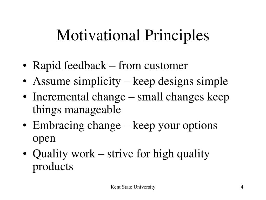 Motivational Principles