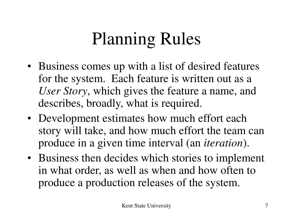 Planning Rules