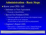 administration basic steps