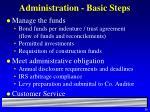 administration basic steps56
