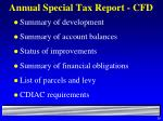 annual special tax report cfd