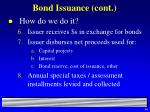 bond issuance cont44