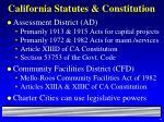 california statutes constitution