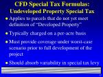 cfd special tax formulas undeveloped property special tax