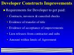 developer constructs improvements38