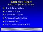 engineer s report s h code 10204 1913 act