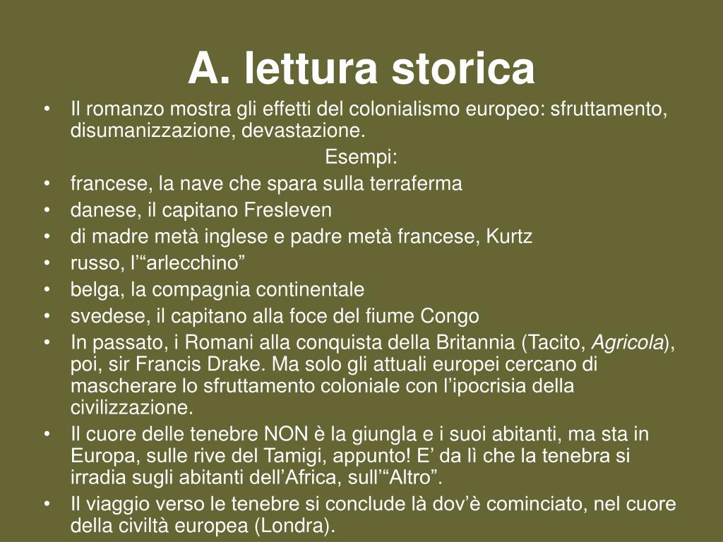 A. lettura storica