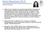 betty repacholi ph d social cognitive and emotional development during infancy and early childhood