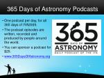 365 days of astronomy podcasts