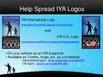 help spread iya logos