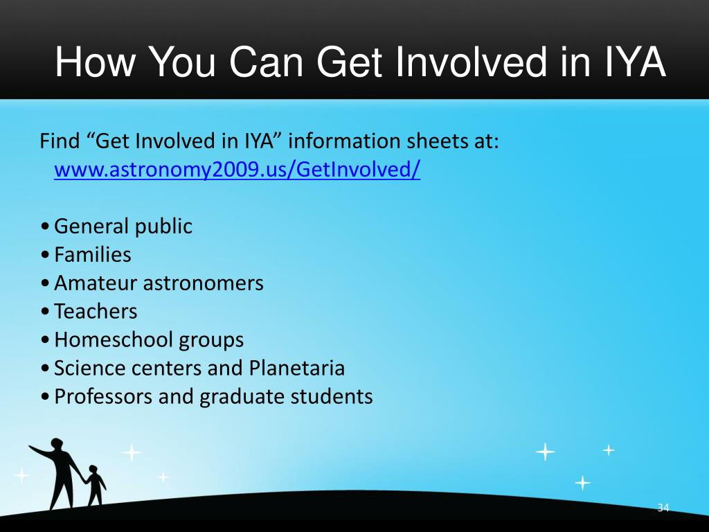 How You Can Get Involved in IYA