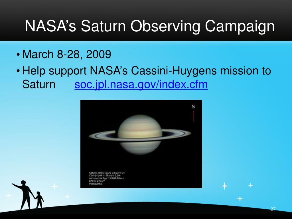 NASA's Saturn Observing Campaign