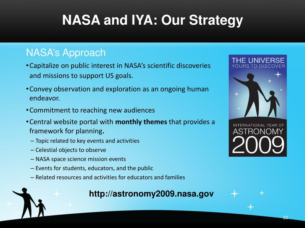 NASA and IYA: Our Strategy