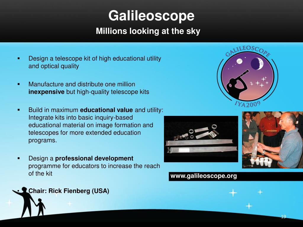 Design a telescope kit of high educational utility and optical quality