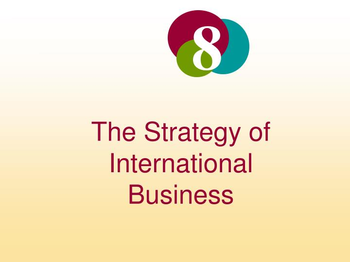 the strategy of international business n.