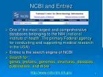 ncbi and entrez