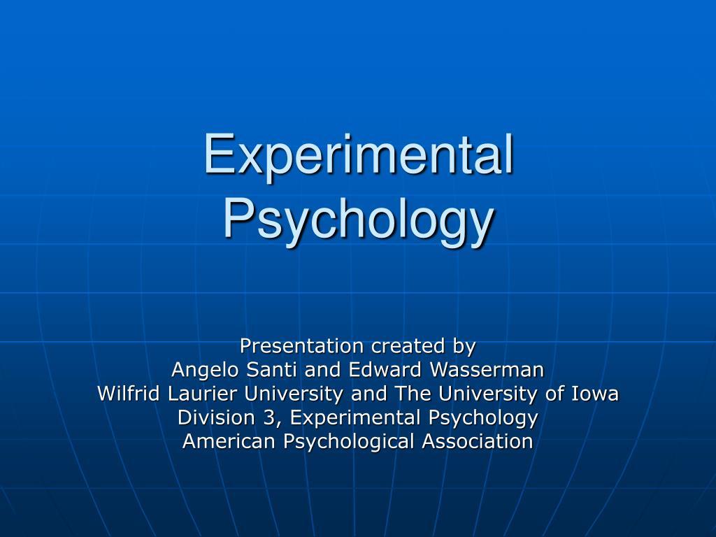 experimental psychology l.
