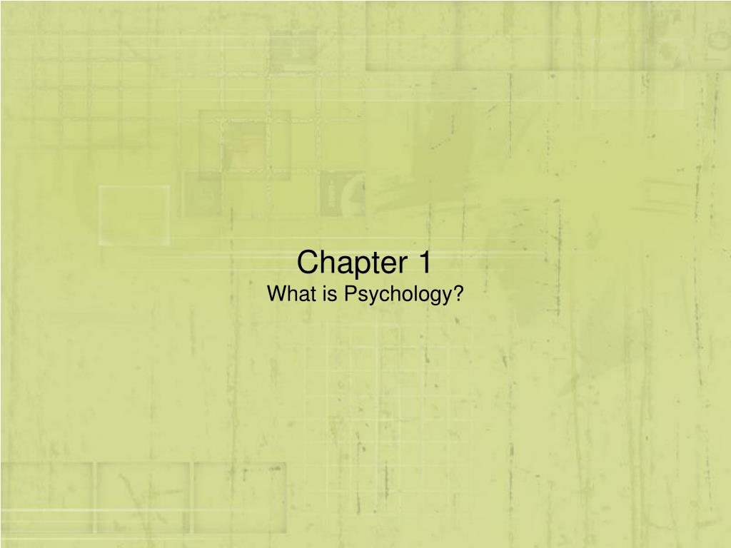 chapter 1 what is psychology l.