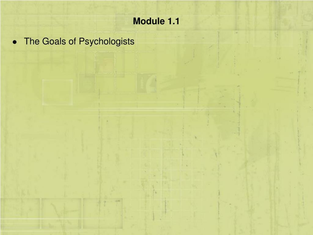 Module 1.1