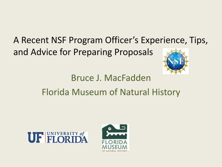 a recent nsf program officer s experience tips and advice for preparing proposals n.