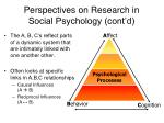 perspectives on research in social psychology cont d10