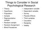 things to consider in social psychological research