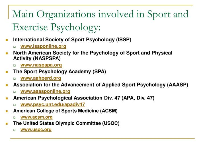an overview of exercise psychology sport essay Sport and exercise for health - bsc (hons) including sport and exercise psychology and the university of kent makes every effort to ensure that the.