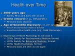 health over time